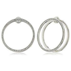 rebecca minkoff // double hoop pavé earrings